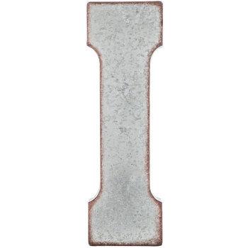 Galvanized Metal Letter Wall Decor - I