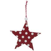 Red & White Polka Dot Star Ornament