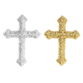 Gold & Silver Glitter Cross Shank Buttons