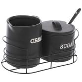 Black Sugar & Cream Containers