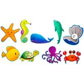 Sea Creatures Paper Cutouts