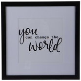 Change The World Framed Wall Decor