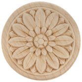 Rosette Wood Applique