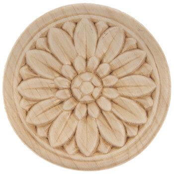 Rosette Wood Applique