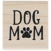 Dog Mom Rubber Stamp