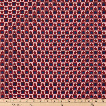 Star Check Cotton Calico Fabric