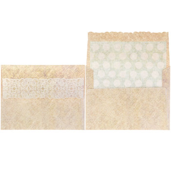 Polka Dot & Lace Thank You Cards
