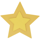 Yellow Star Painted Wood Shape