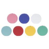 Multi-Color Matte Disc Metal Beads