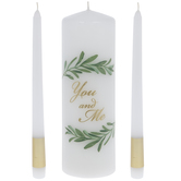 You & Me Greenery Unity Candles