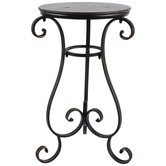 Antique Black Scroll Metal Table