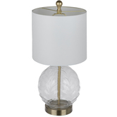 Glass Leafy Orb Lamp