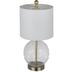 Glass Leafy Orb Lamp