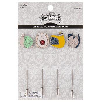 Yarn Enamel Top Straight Pins