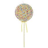 Yellow Sprinkled Lollipop Pick