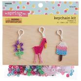 Flower, Ice Cream & Flamingo Beaded Keychain Craft Kit