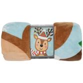 Reindeer With Light Strands Throw Blanket