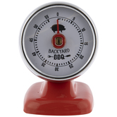 Red Backyard BBQ Timer