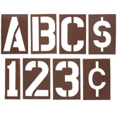Laminated Oilboard Letter & Number Stencils