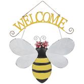 Welcome Bee Metal Wall Decor