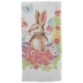 Easter Bunny Floral Kitchen Towel