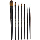 Watercolor & Acrylic Paint Brushes - 7 Piece Set