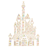 Disney Princess Castle Rhinestone Sticker