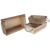Wood Containers Set