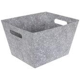 Galvanized Metal Print Container - Large