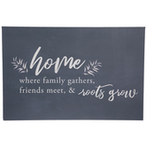 Home Family Gathers Canvas Wall Decor