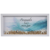 Mermaid Fun Framed Wood Wall Decor