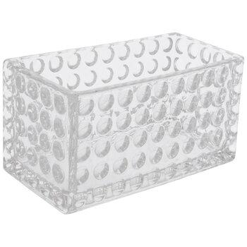 Bubbled Rectangle Glass Vase