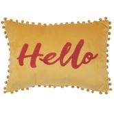 Hello Pom Pom Pillow