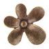 Antique Bronze Whimsical Flower Metal Knob