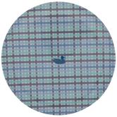 Southern Marsh Blue Plaid Plate