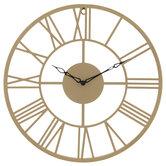 Minimalistic Gold Metal Wall Clock