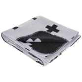 White & Black Cross Throw Blanket