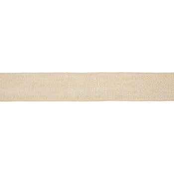"Burlap Wired Edge Ribbon - 2 1/2"""