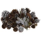 Snowy Pinecones & Pine Filler