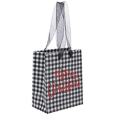 Black Buffalo Check Merry Gift Bag