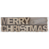 Merry Christmas Wood Letter Garland Craft Kit
