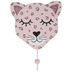 Pink Leopard Glitter Wood Wall Hook
