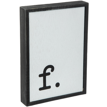 Lowercase Letter Wood Wall Decor - F