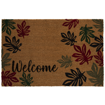 Welcome Fall Leaves Doormat