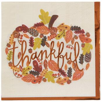 Thankful Pumpkin Napkins - Large