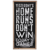 Win Today's Game Wood Wall Decor