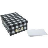Black & White Buffalo Check Storage Box