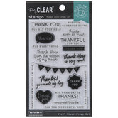 Thank You Messages Clear Stamps