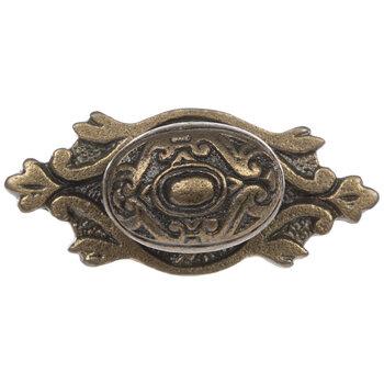 Antique Brass Metal Oval Knob