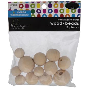 Round Wood Beads - 15mm - 25mm